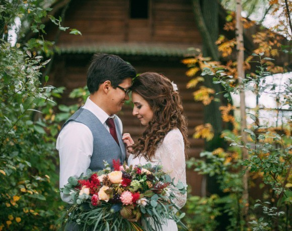 Чарующая осень: свадьба с дождем