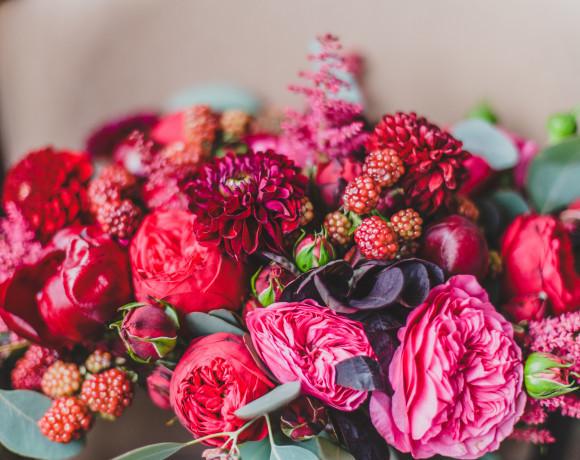 Осенние свадебные букеты