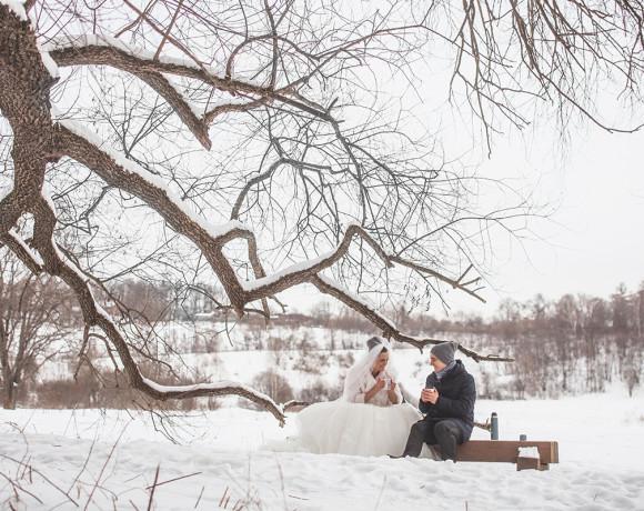 Музыкальная свадьба зимой