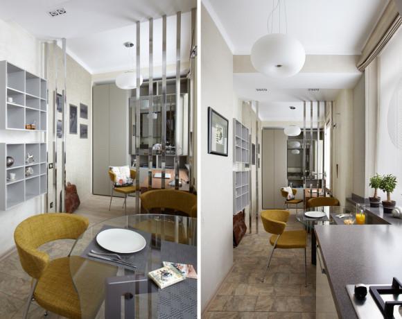 Интерьер квартиры. Современная гостевая студия