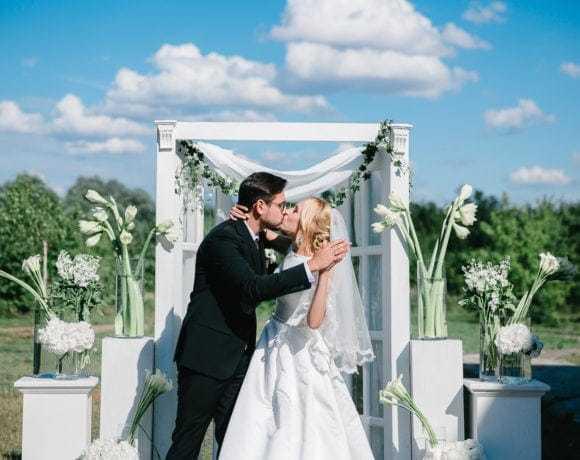 Стильная свадьба в белой цветовой гамме