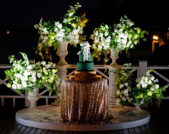 Изумрудная свадьба в классическом стиле