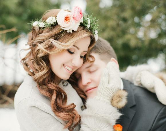 Снежная сказка: уютная свадьба зимой