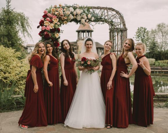 Летняя свадьба с яркими винными акцентами