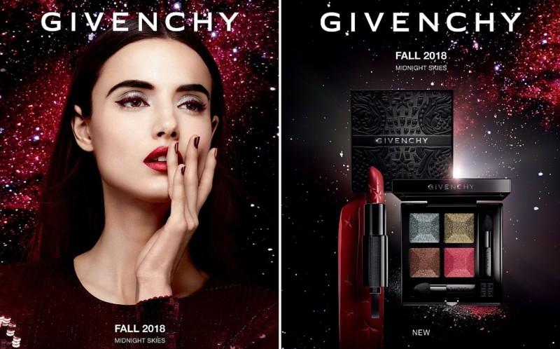 Осенние коллекции макияжа 2018: синие оттенки