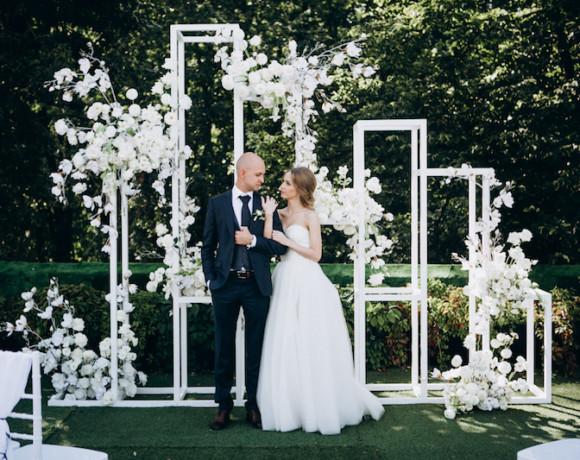 Стильная черно-белая свадьба в первый день осени