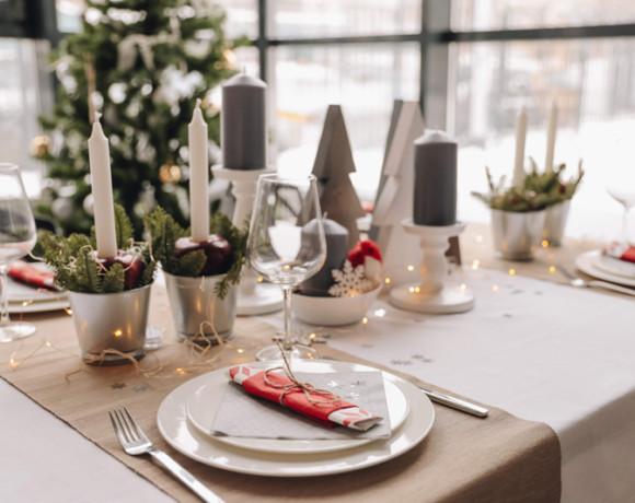 3 варианта декора новогоднего стола