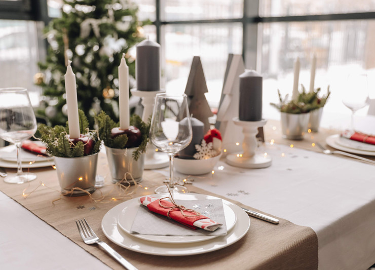 3 варианта декора новогоднего стола def61ba67ee3d