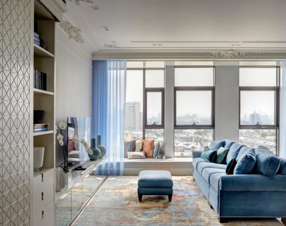 Элегантный интерьер в стиле дорогих апартаментов Манхэттена