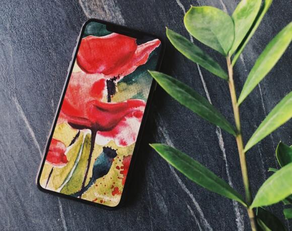 Акварельные обои на телефон от Kadariya.art
