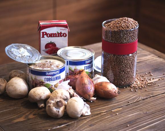 Кулинарные шедевры от шефа: гречка с тушёнкой