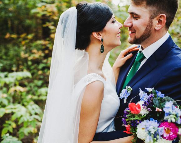 Осенняя свадьба, собака и дрифт