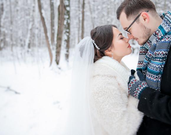 Уютная зимняя свадьба – любовь и теплые объятия