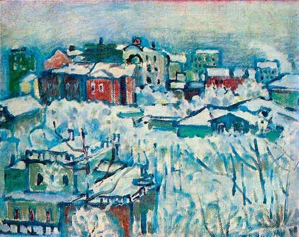 «Москва. Смоленский бульвар. Этюд», 1916 (Москва, Государственная Третьяковская галерея)