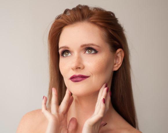 Осенний макияж в бордовых оттенках: пошаговая инструкция