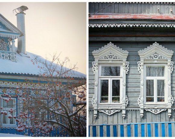 Уютные окошки деревень русских