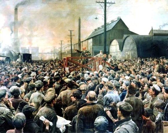 Октябрьская революция в творчестве русских художников